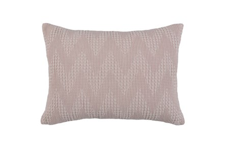 Accent Pillow-Blush Pink Basic Chevron 14X26 - Main