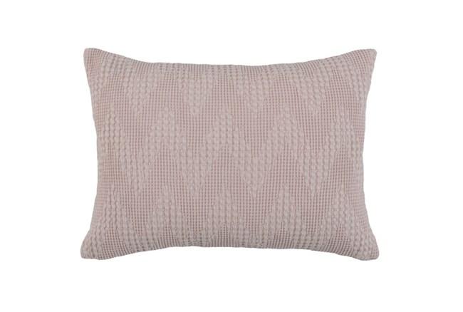 Accent Pillow-Blush Pink Basic Chevron 14X26 - 360