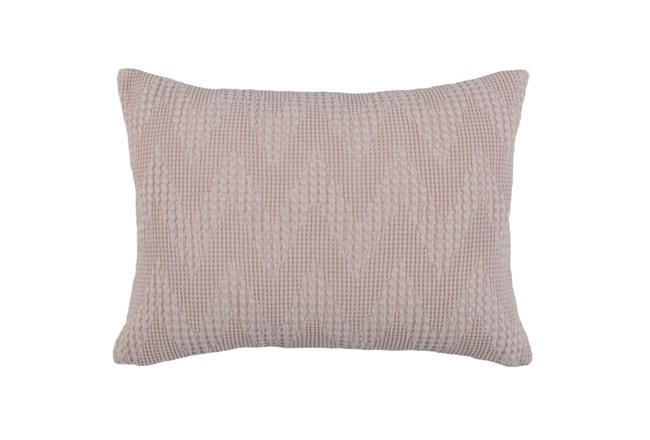 Accent Pillow-Blush Pink Basic Chevron 14X26 - 360
