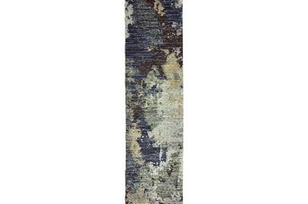 30X144 Rug-Marshall Steel Blue