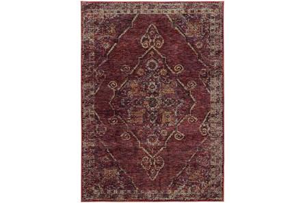120X158 Rug-Adarra Moroccan Red