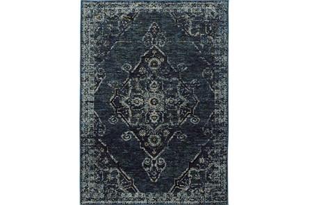 120X158 Rug-Adarra Moroccan Indigo
