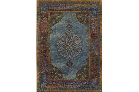 120X158 Rug-Harriet Moroccan Blue