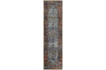 30X144 Rug-Harriet Moroccan Blue