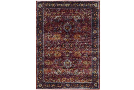 120X158 Rug-Mariam Moroccan Red