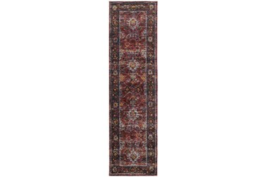 """2'5""""x12' Rug-Mariam Moroccan Red"""