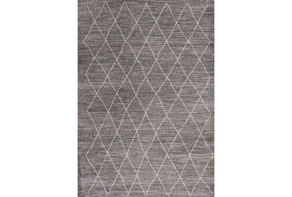 94X130 Rug-Farmhouse Diamonds Charcoal
