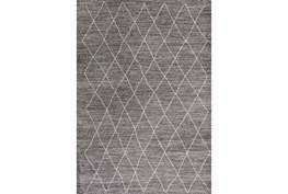 94X130 Rug-Farmhouse Diamonds Charcoal