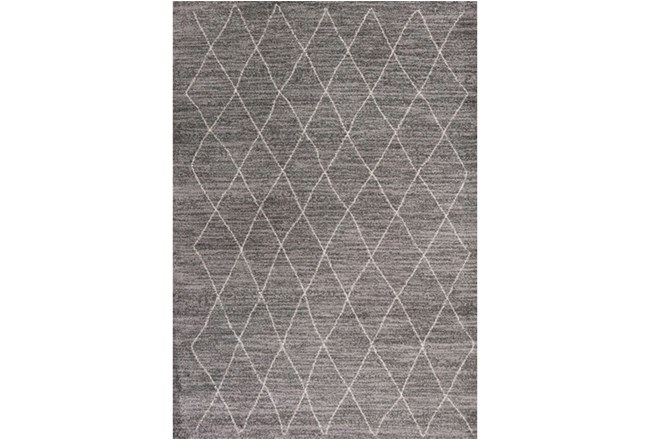 94X130 Rug-Farmhouse Diamonds Charcoal - 360