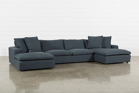 Haven Blue Steel 3 Piece Sectional