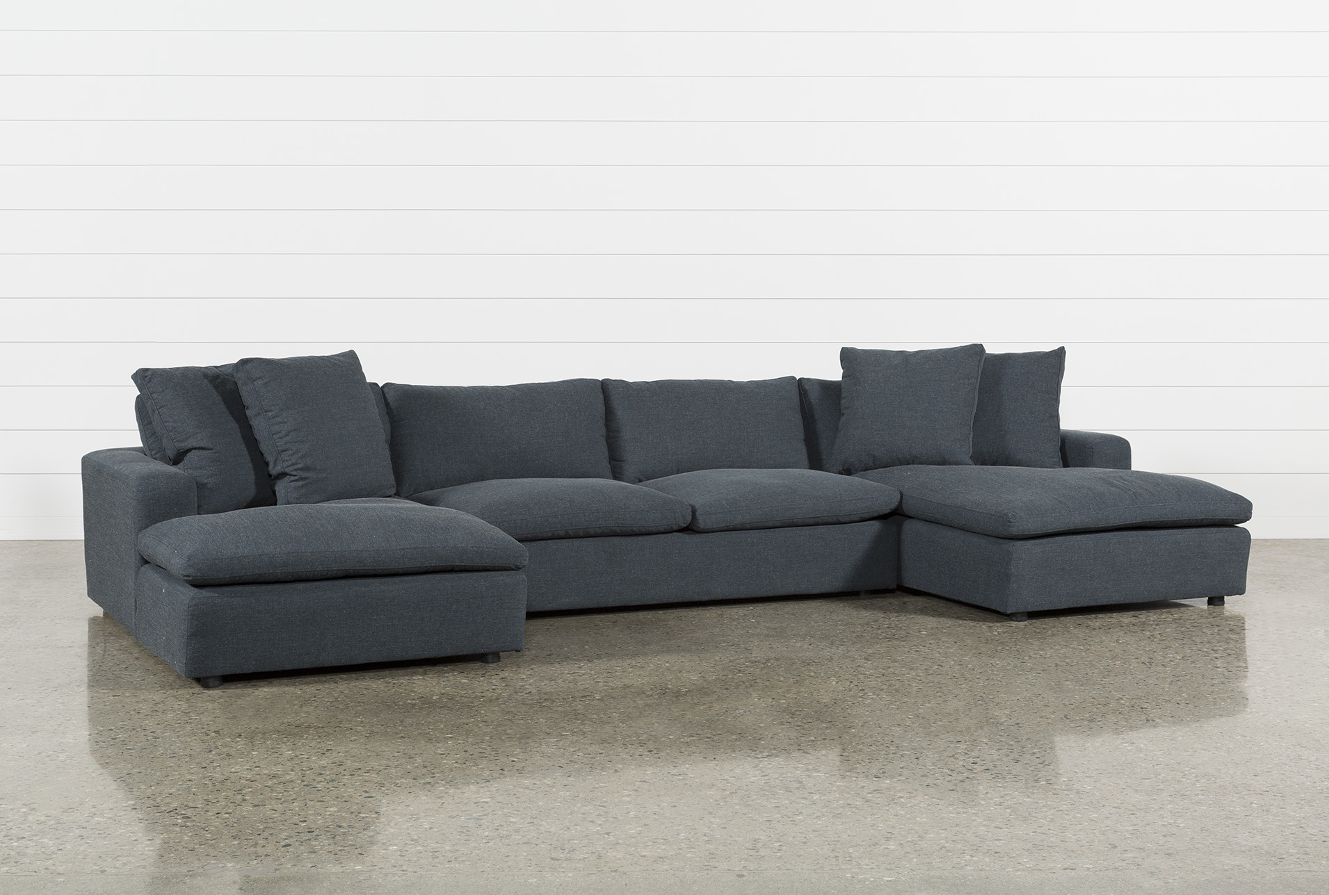 Gentil Haven Blue Steel 3 Piece Sectional