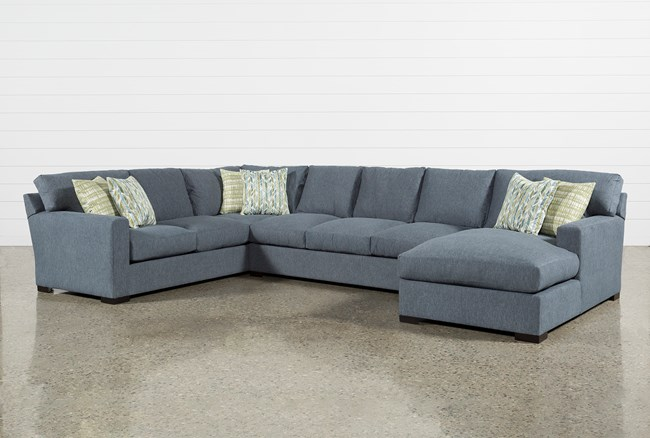 Mercer Down 3 Piece Sectional - 360