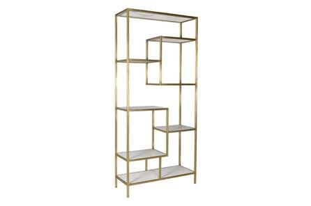 Multi Level Gold Bookcase - Main