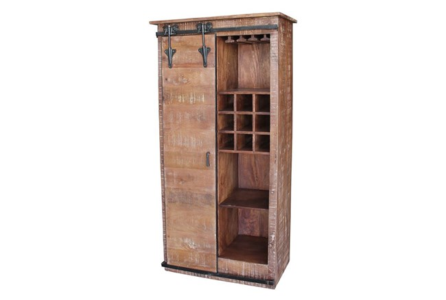 Sliding Door Tall Wine Cabinet - 360