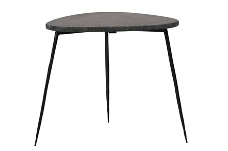 Black Marble Side Table - Main