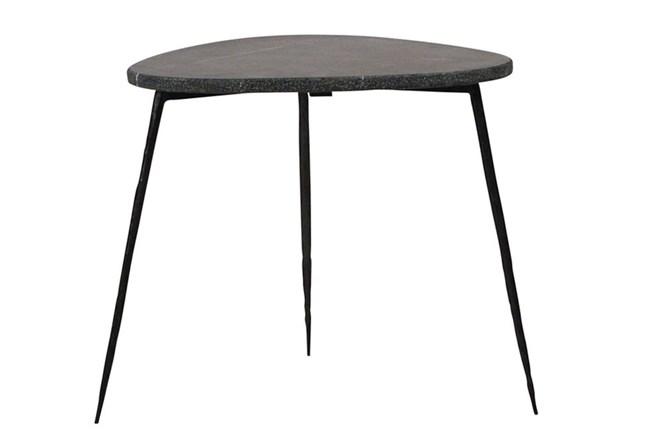 Black Marble Side Table - 360