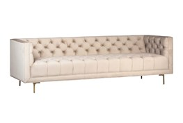 Champagne Tufted Sofa