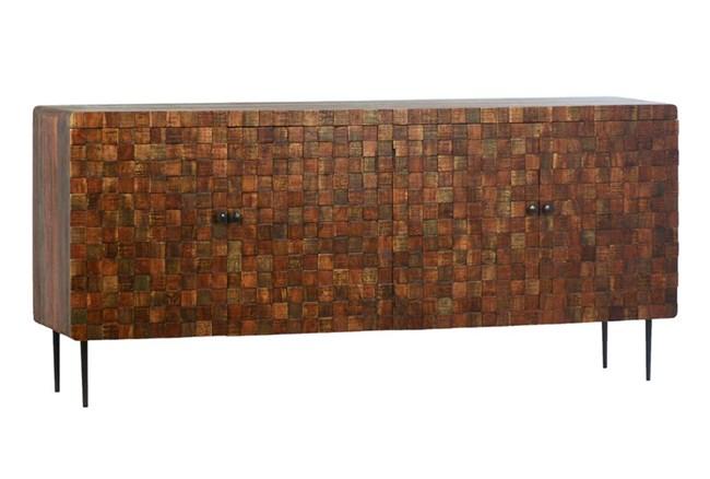 4 Door Wood Squares Sideboard - 360