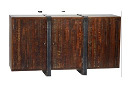 Reclaimed Sideboard With Metal Panel