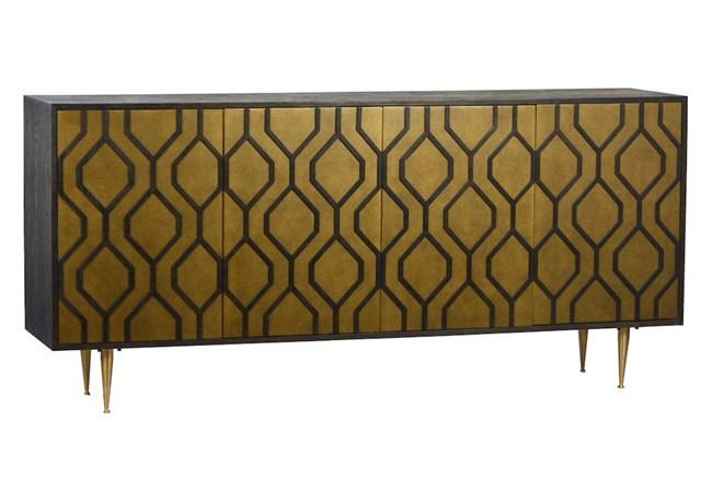 4 Door Brass Geo Sideboard - 360
