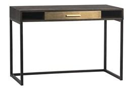 Oak Desk With Brass Drawer