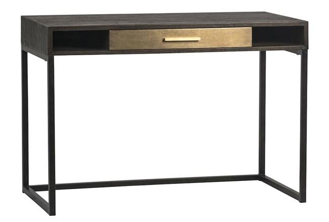 Oak Desk With Brass Drawer - 360