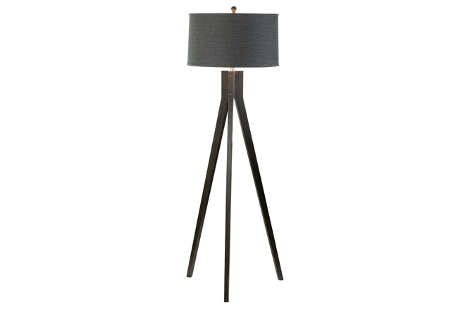 Floor Lamp- Ebony Tripod - 360