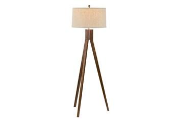 Floor Lamp-Oak Tripod