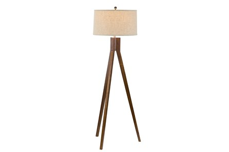 Floor Lamp-Oak Tripod