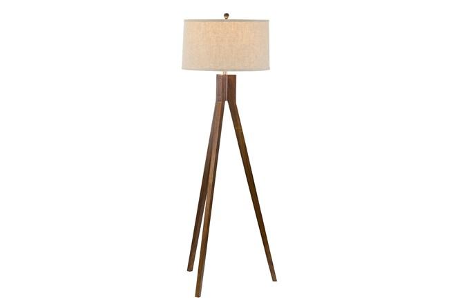 Floor Lamp-Oak Tripod - 360
