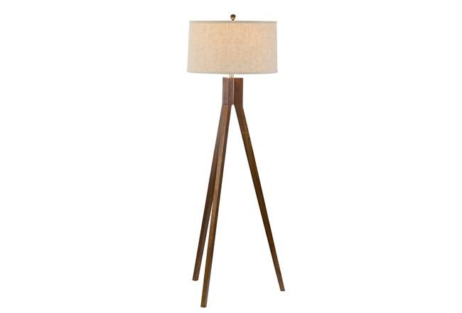Living Spaces Oak Floor Lamp
