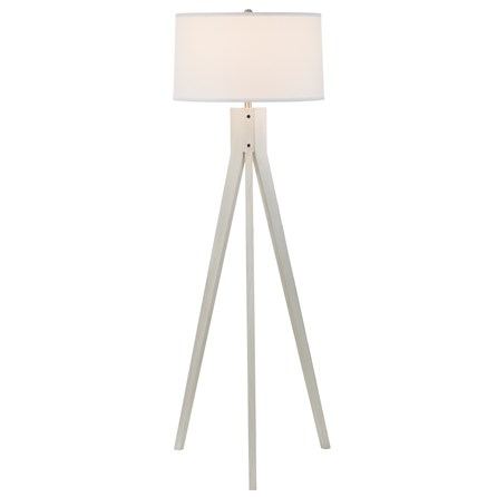 Floor Lamp- White Wash Tripod