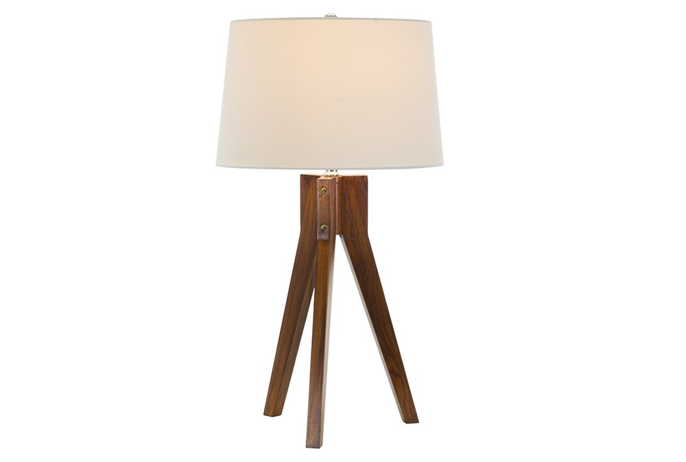 Table Lamp-Oak Tripod