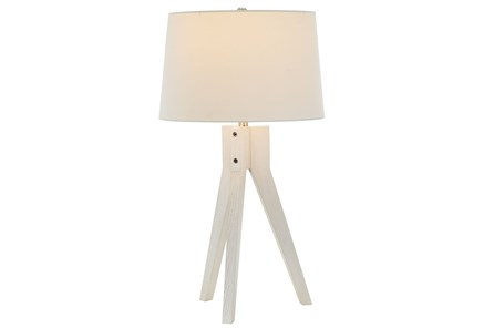 Table Lamp-White Wash Tripod