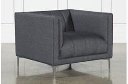 Black Denim Channel Chair