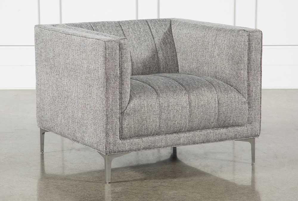 Grey Tweed Channel Chair
