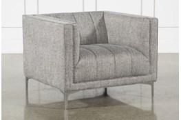 Grey Tweed Channel Chair