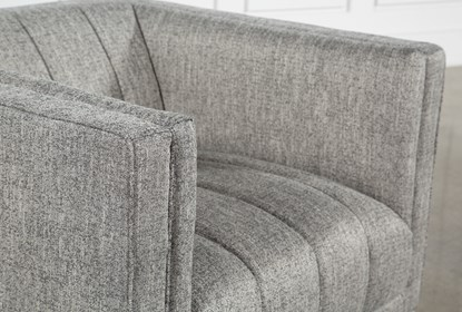 Fabulous Grey Tweed Channel Chair Lamtechconsult Wood Chair Design Ideas Lamtechconsultcom