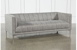 Grey Menswear Channel Sofa