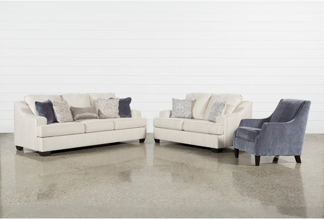 Brumbeck 3 Piece Living Room Set With Accent Chair | Living Spaces