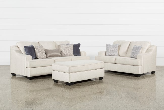 Brumbeck 3 Piece Living Room Set With Queen Sleeper And Storage Ottoman - 360