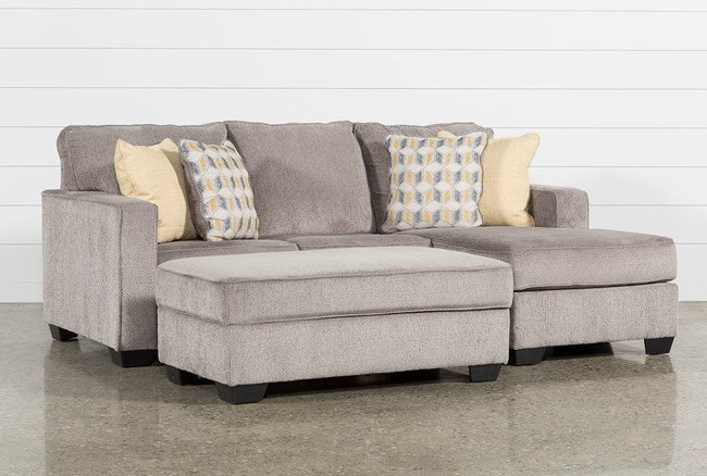 Mcculla 2 Piece Living Room Set With Storage Ottoman - 360