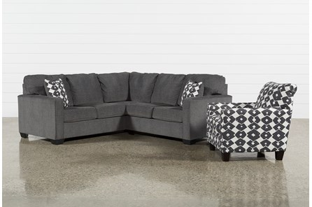 Turdur 2 Piece Right Arm Facing Sectional With Accent Chair