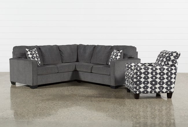 Turdur 2 Piece Right Facing Sectional With Accent Chair - 360