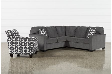 Turdur 2 Piece Laf Sectional With Accent Chair