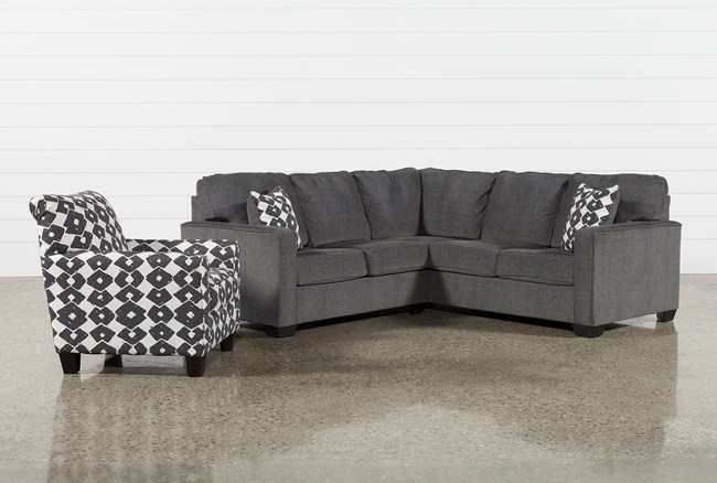 Turdur 2 Piece Laf Sectional With Accent Chair - 360