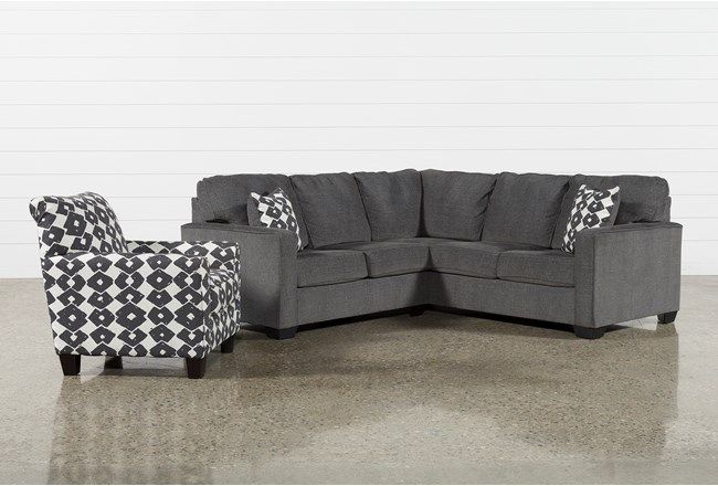 Turdur 2 Piece Left Arm Facing Sectional With Accent Chair - 360