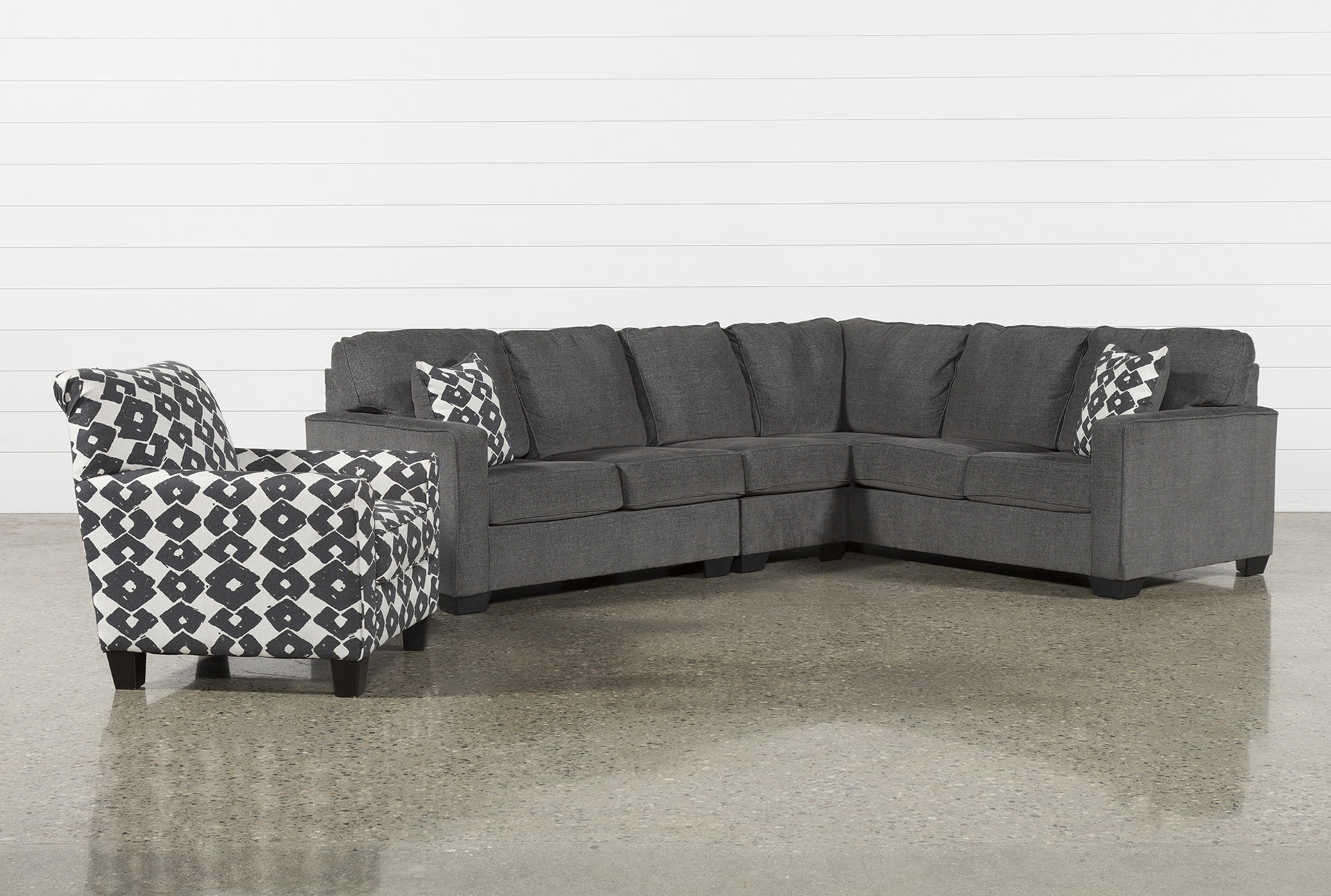 Turdur 3 Piece Laf Sectional With Accent Chair (Qty: 1) Has Been  Successfully Added To Your Cart.