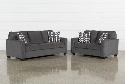 Ur 2 Piece Living Room Set, Grey Living Room Sets