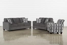 Turdur 3 Piece Living Room Set